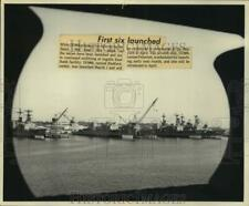 Press Photo Construction of USS Radford & other ships, Ingalls East Bank yard MS