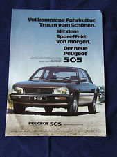 PEUGEOT 505 SALOON POSTER ADVERT READY TO FRAME A4 SIZE