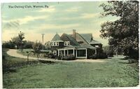 The Outing Club House Building Warren PA Pennsylvania Vintage 1910's Postcard