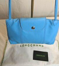 Longchamp Le Pliage Cuir Small Leather Crossbody Bag BLUE FRANCE