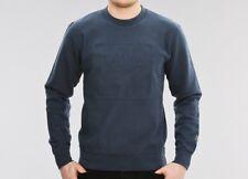 NEW Wood Wood sz M Larry Sweatshirt WW Square Embossed Teal Blue RRP €150