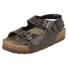 Sandales marron avec boucle pour garçon de 2 à 16 ans