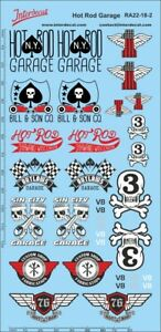 Hot Rod Garage Decals red 1/18 (180x90 mm) 1/18 RA22-18-2