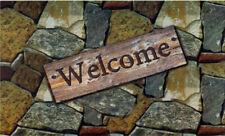Welcome Doormat Quarry Stone Rock Print Outdoor Mat 18 x 30 for Outdoor Entrance