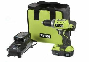 Ryobi One P1811 18V Lithium Ion Cordless Compact Drill Driver Kit 2 Speed New