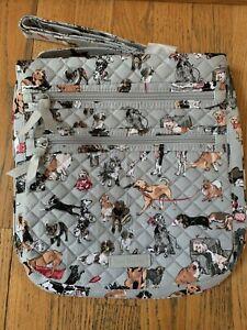 Vera Bradley Triple Zip Hipster Best In Show Bag Crossbody NWT EXACT Dogs