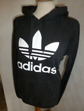 MENS ADIDAS ORIGINALS BLACK FLOCK 80s CASUALS HOOD TRACK TOP HOODIE JUMPER S