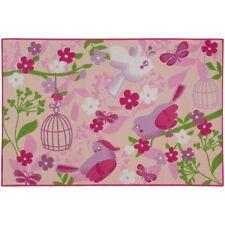 Teppich Kinderteppich Birds of Paradise Spielteppich 80x120 cm pink rosa (17,95€