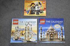 Lego lot of 3 Calendars 2012 2013 2016 Construction Collectors