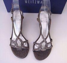 Stuart Weitzman Bridal & Evening Collection Reversal Pyrite Nocturn Heels 6.5 B