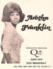 Aretha Franklin 1968 Original Lady Soul Concert Tour Booking Handbill / Flyer