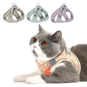 Nylon Reflective Dog Harness Vest Pet Puppy Cat Easy Walking Harnesses Collar