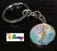 TINKERBELL DISNEY metal glass silver plated Movie Key chain cosplay US Seller