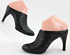 Cole Haan G Series High Heel Mules Black Purple Leather Sz 6B