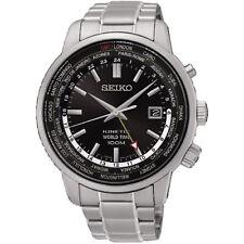 Reloj Seiko sun069p1 kinetic gmt world time hombre