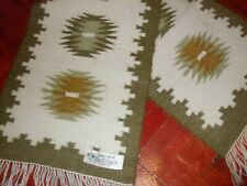 Vintage Wool Table Runner, Hand Ethnic Woolen Rug, hand woven Greece Home Decor