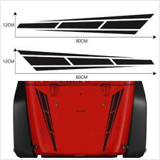 Car Racing Stripes Black Vinyl Truck Hood Decal Front stickers  4.5 '' x 31.5 ''