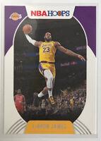 LEBRON JAMES!!  2020-21 Panini NBA Hoops Base Card #146 LOS ANGELES LAKERS 🔥