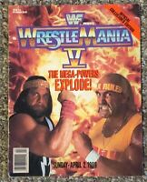 WWF WWE Magazine Wrestlemania V (5) Program Hulk Hogan Macho Man