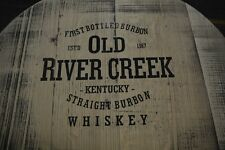 Whiskey Barrel Top, Bourbon Kentucky Old River Creek.