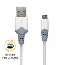 Reversible Micro USB Cable Double Sided 2.1A Fast Charge Data 1m Best Quality