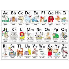 "Animal ABC Alphabet Learn Children Educational Silk Cloth Poster Decor 17"" x 13"""