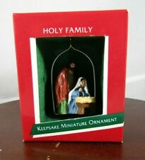 1988 Hallmark Miniature Keepsake Christmas Ornament- Jesus- Holy Family- Naivety