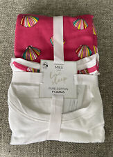 M & S Ladies Shell Pyjamas Size MEDIUM (12-14) BRAND NEW