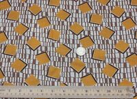 Never Used Vintage Cotton Feedsack Fabric c1940-1950~Orange Geos