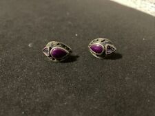 Earrings With Stones Beautiful Stones Unmarked Vintage Native American 925