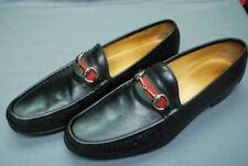 GUCCI men's black bit loafers w/signature stripe web vamp sz 12 D / US 13 D