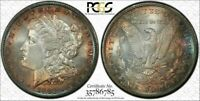 1881-S USA MORGAN SILVER DOLLAR PCGS MS66 TONED COLOR UNC FLAWLESS GEM BU (DR)