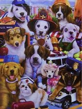 Jigsaw Puzzle Animal Dog Working pups 750 pieces NEW