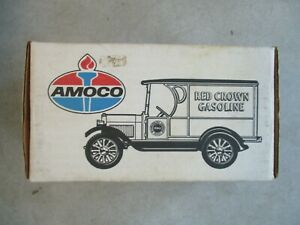 1923 CHEVY 1/2 TON TRUCK AMOCO DIE CAST METAL COIN BANK 1/25 SCALE 1991 ERTL
