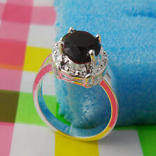 1pcs S80 Silver red crystal GEMS women rings Size 9JZ07