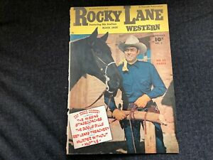 Vintage FAWCETT COMIC BOOK #5 1949 Rocky Lane Western COVER ONLY Cowboy