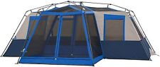 Camping Tent 10-12 Person Instant Large 18' X 16' Screen Room Family Cabin Blue