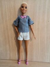 """Barbie Black American Fashionistas Doll """" Chic in Chambray """" No 82 In The Series"""