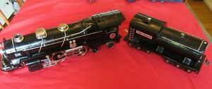Lionel MTH Standard Gauge Tinplate Black w Brass 400E Steam Engine Traditional