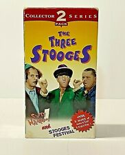 The Three Stooges Collector Series 2 Pack (VHS, 1996) The Three Stooges