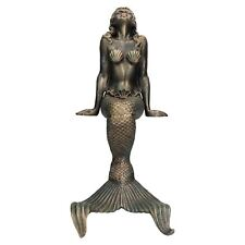 """16"""" fonte Mermaid Statue Figure Jardin d'ornement plateau l'étang l'eau Assis"""