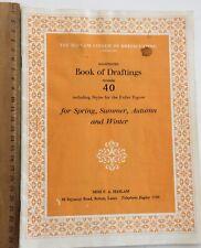 Original Dress Sewing Patterns 1940/50's Fashion HASLAM Book of Draftings No 40