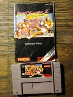 Street Fighter II: Turbo (Super Nintendo, 1993) w Manual - Cleaned & Tested