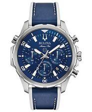 Bulova 96B287 Men's Marine Star Blue Dial Chronograph 43mm Case Watch