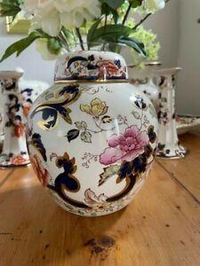 Mason's Ironstone Blue Mandalay China Large Ginger Jar -Superb Condition