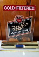 Vintage 1989 Miller Genuine Draft Desk Clock with Plexiglass Marquee Beeriana