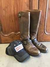 VTG Chippewa Boots Linesman Engineering Campus Moto Boots Mens 7 D & RRL HAT