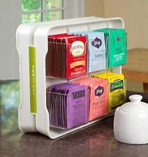 Tea Bag Rack Stand Organizer Holder Kitchen Home Storage Box Display TeaStand