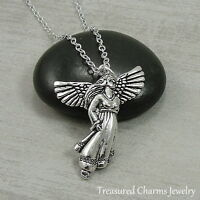 Silver Guardian Angel Charm Necklace - Angel Prayer Pendant Jewelry NEW