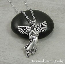 Silver Guardian Angel Charm Necklace - Angel Prayer Pendant Jewelry NEW